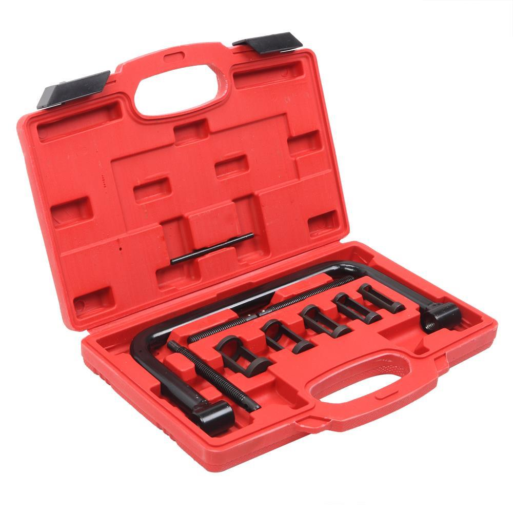Valve Spring Compressor Tool Set In Case 16mm 19mm 23mm 25mm 30mm Adaptors