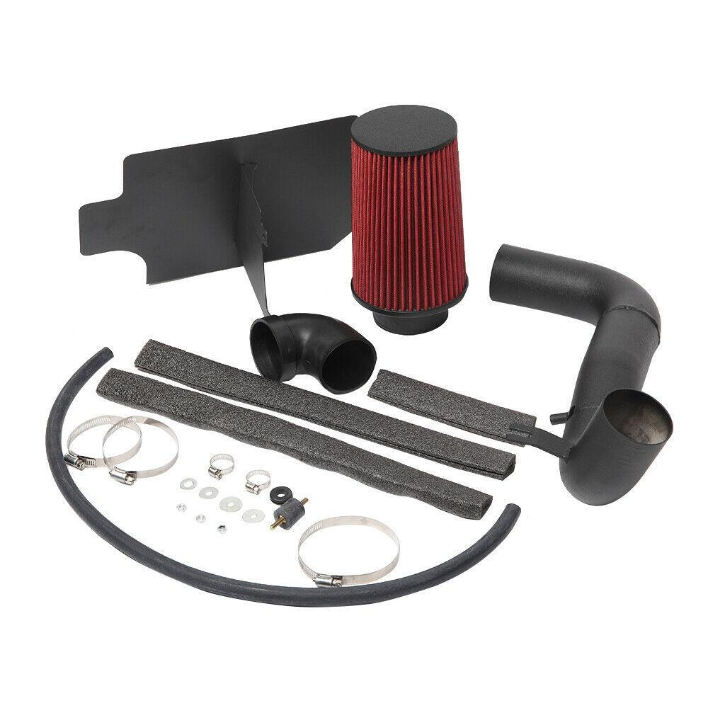 Fit 98-03 Chevy S10//Sonoma 2.2 4Cyl Cold Air Intake Aluminum Pipe+Heat Shield