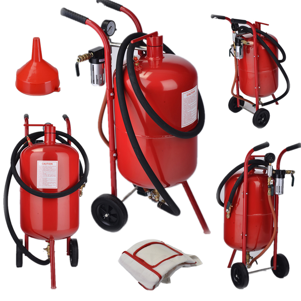 PORTABLE AIR SANDBLASTER 10 GALLON SAND BLASTER TOOLS PNEUMATIC RUST REMOVER