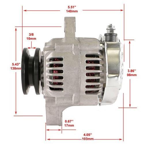 New Alternator for Chevy Mini Denso Street Rod Race 1-Wire 1987-1992 12180-SE