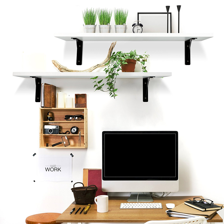 2PC Display Ledge Shelf Floating Shelves Wall Mounted Modern Home Decorative