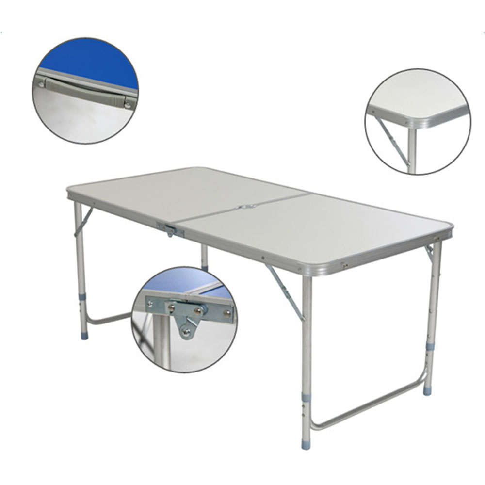 - 3/4/6 FT Aluminum Folding Table Camping Wedding Party Patio