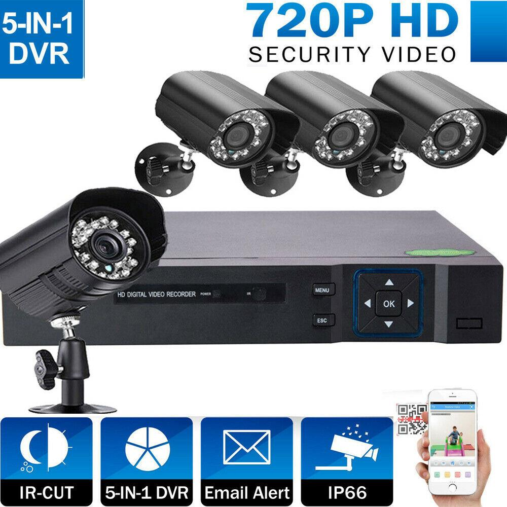 4CH 1080N 5in1 DVR Indoor//Outdoor IR Night Vision HD Camera Home Security System