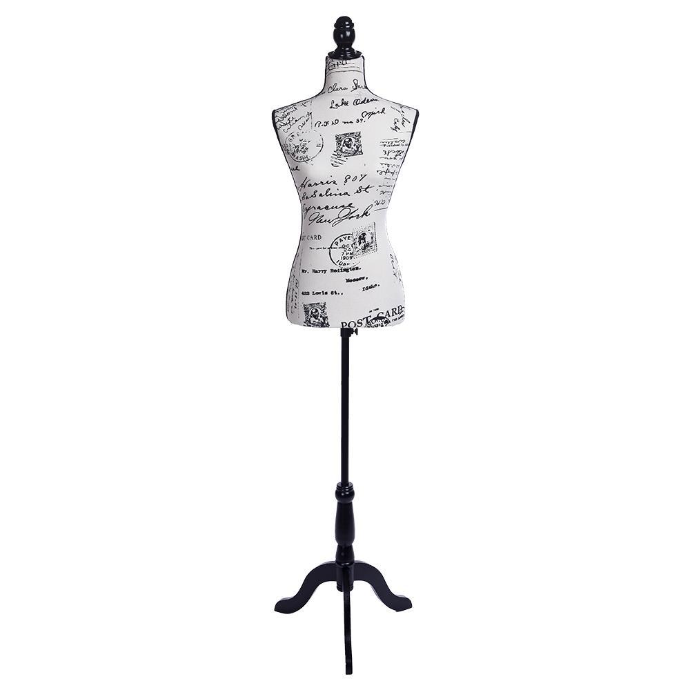 Female Mannequin Torso Dress Letter Pattern Form Display W Tripod Stand Design Ebay