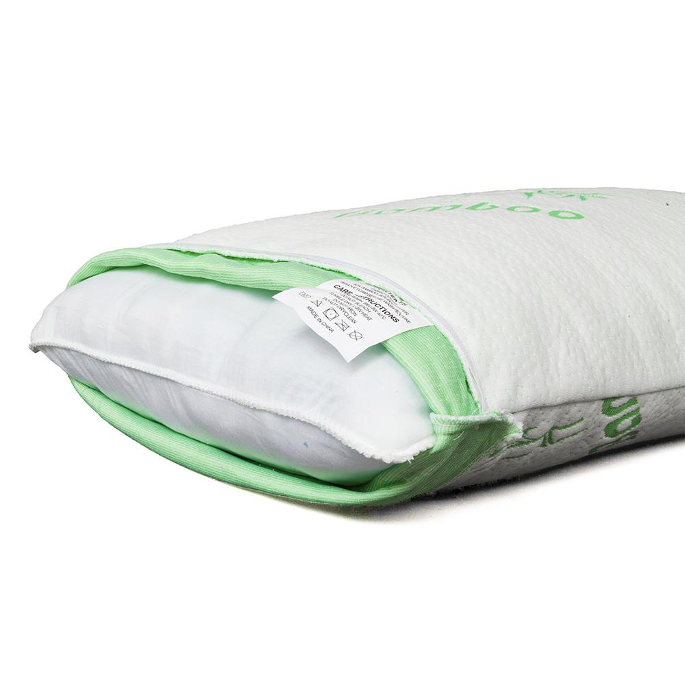 Home Use Queen Bamboo Pillow Memory Foam Hypoallergenic Cool Cozy w//Travel Bag