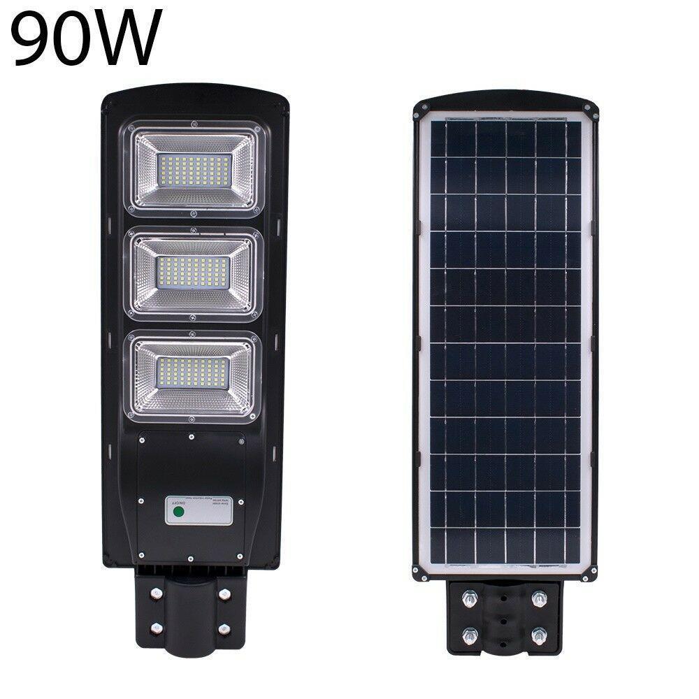 Solar LED Street Light 20W-60W Radar Induction PIR Motion Sensor Lamp /& Control