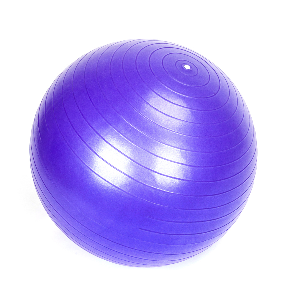 55CM Fitness Yoga Ball Exercise Pilates Balance Gymnastic Fitness Air Pump Black