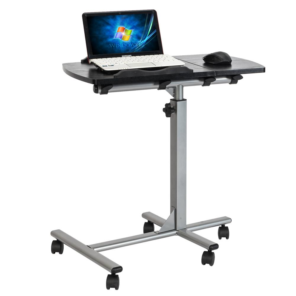 Mobile Rolling Laptop Desk Cart Stand Height Adjustable Computer Laptop Table US