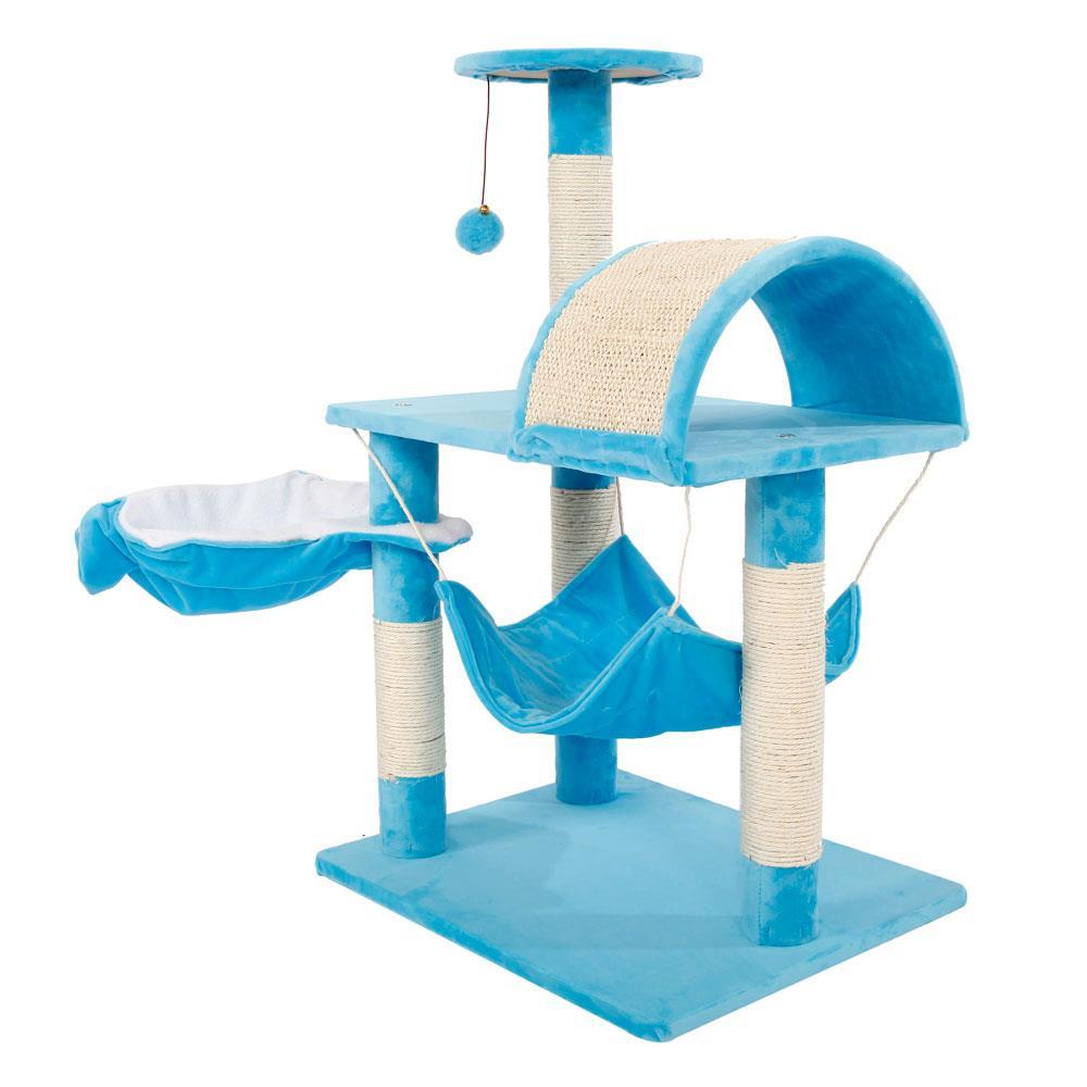 "32/"" Cat Tree Tower Condo Sisal Scratcher Furniture Kitten Pet House Hammock Toy"