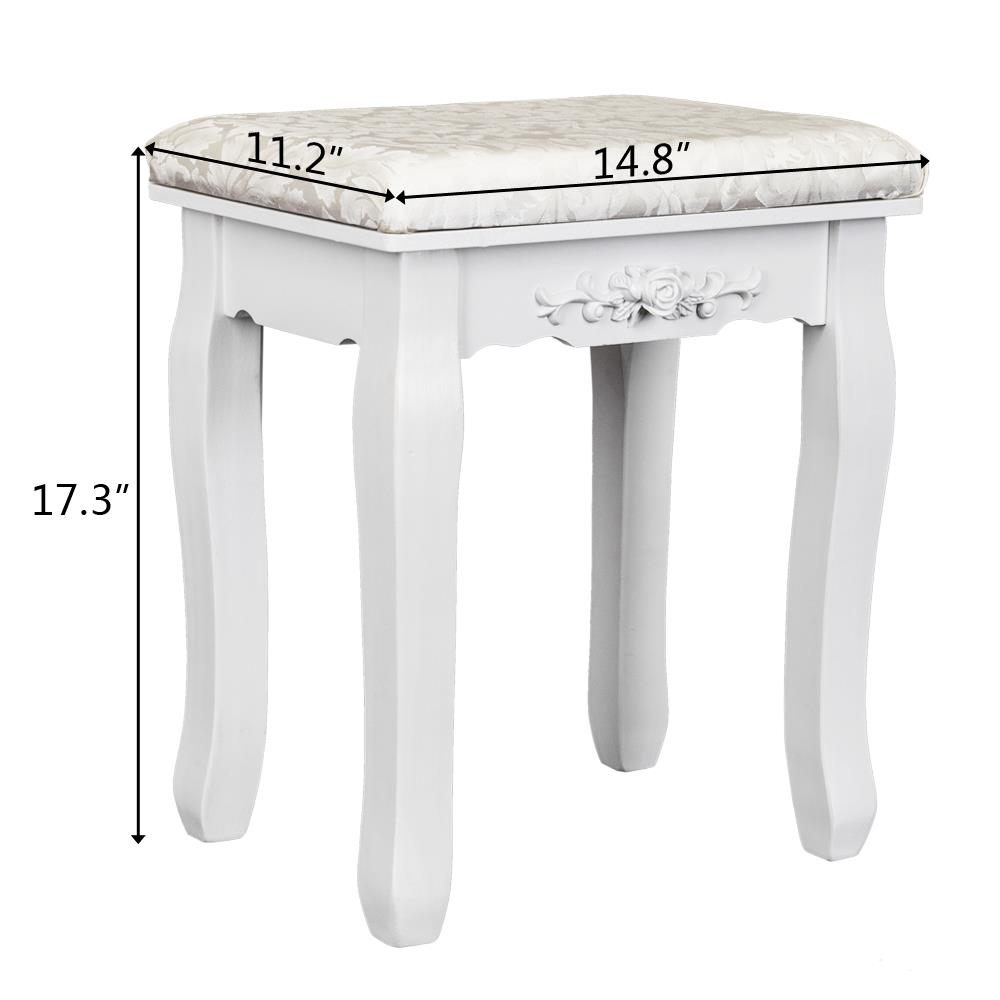 Details about Vanity Stool Makeup Dressing Padded Bench for Living Room  Bedroom Dorm Apartment