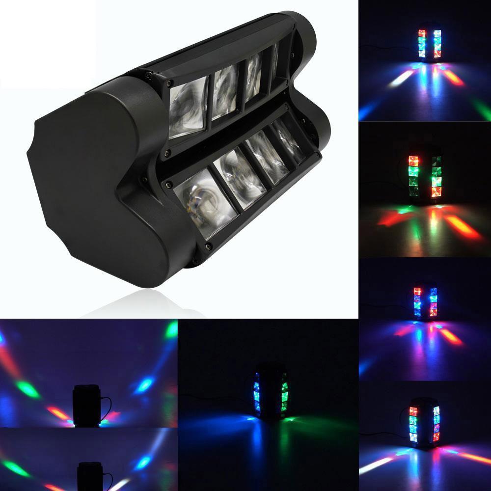 80W RGBW LED Spider Moving Head Stage Lighting Xmas DMX Disco Party DJ Lights