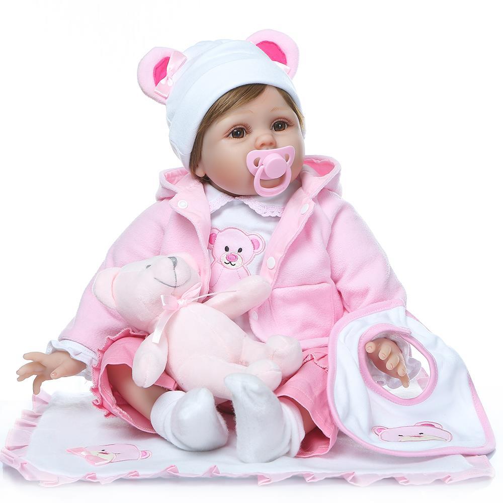 """Roupas 22/"""" feito à mão realistas bebê menino Boneca Reborn de vinil e silicone recém-nascido Bonecas"""