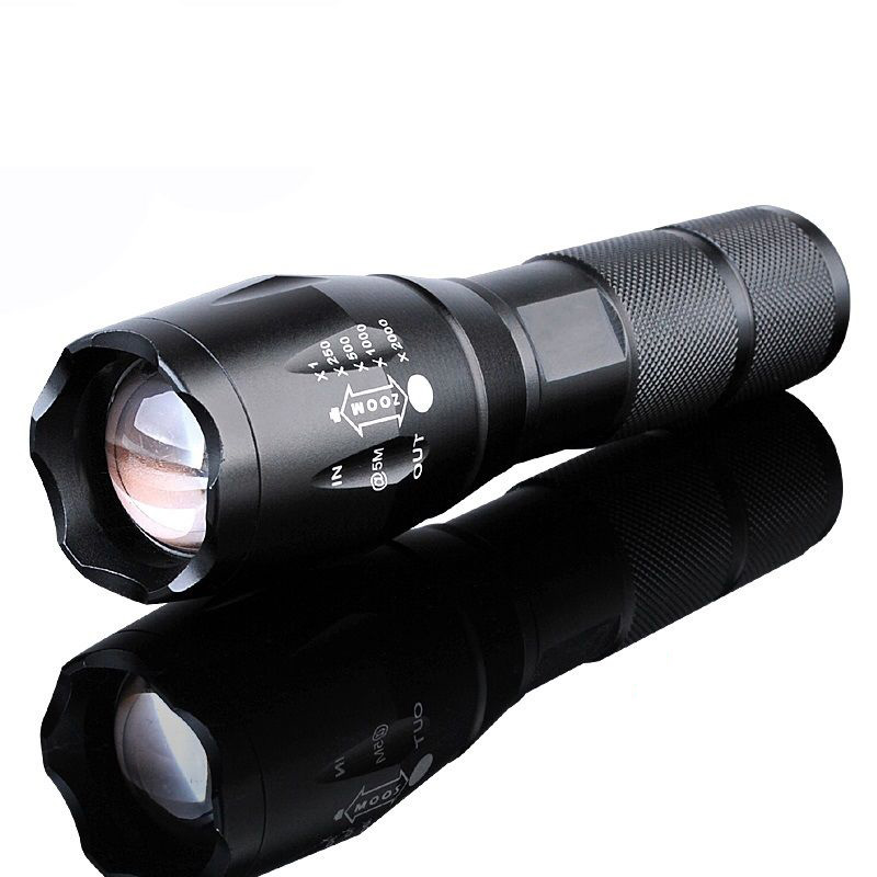 10000 Lumens Zoomable Military 10W Tactical LED 18650Focus Flashlight Torch Lamp
