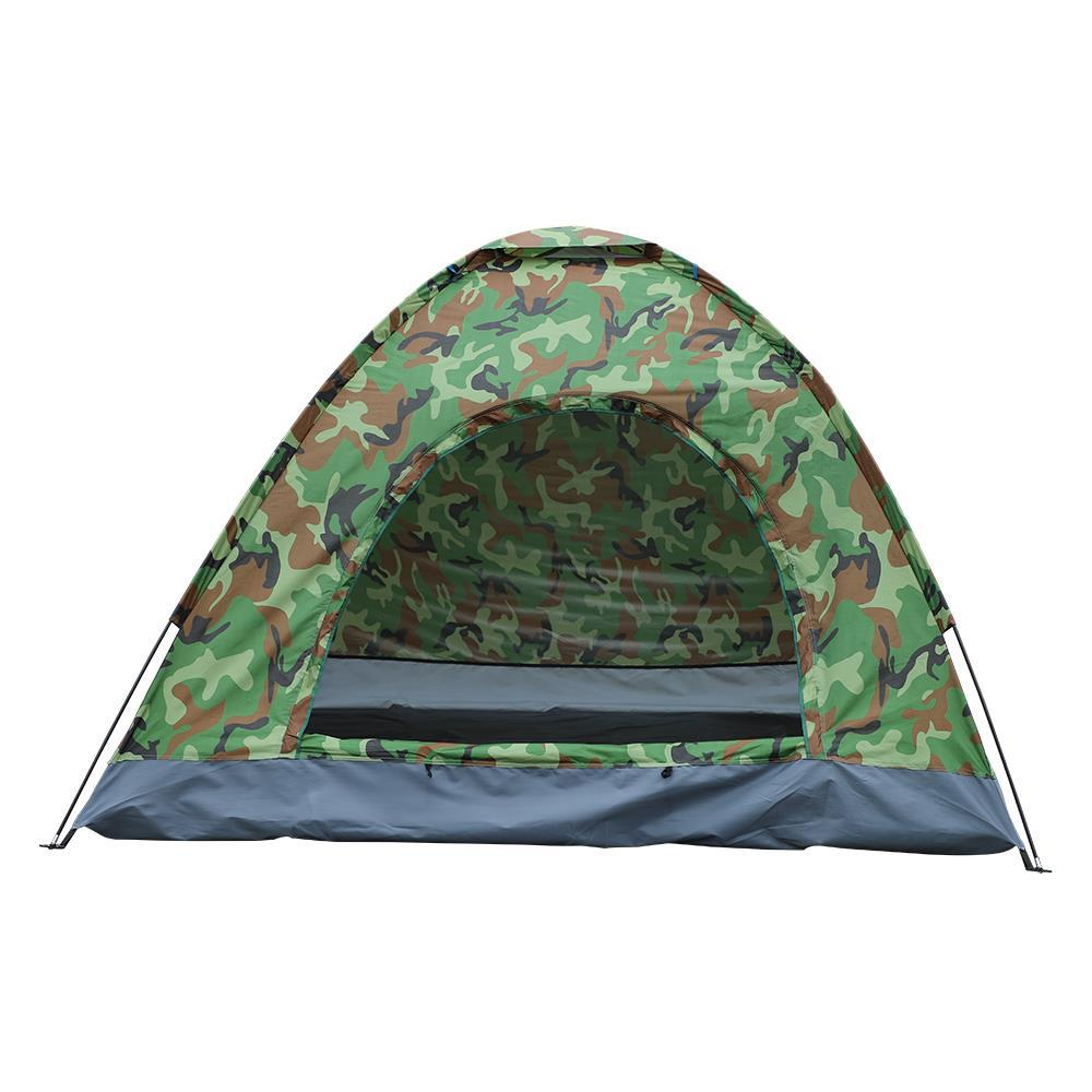 Outdoor Camouflage 3-4 Person Waterproof Shelter Hiking Camping Folding Tent USA
