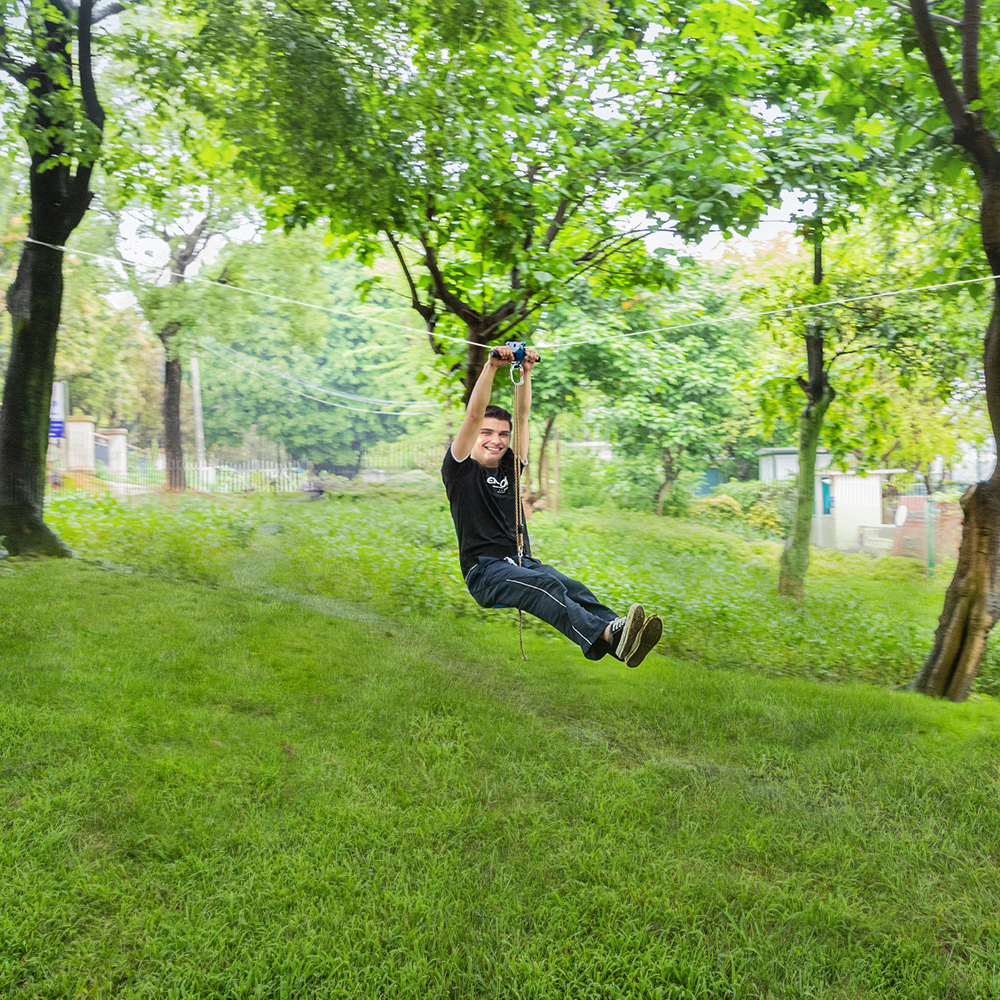 118ft Backyard Zip Line Kits with Seat and Bungee Brake ...