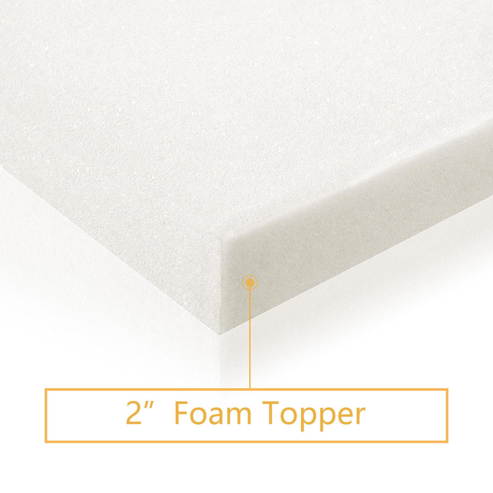 """Queen Size 2/""""// 3/"""" Inch 45D Single Layer Memory Foam Mattress Topper Twin Full"""