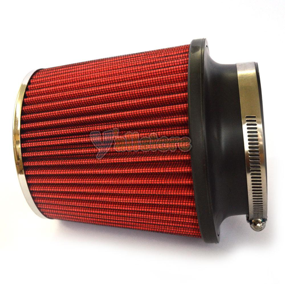 "3.5/"" Performance High Flow Cold Air Intake Cone Replacement Dry Filter Red"