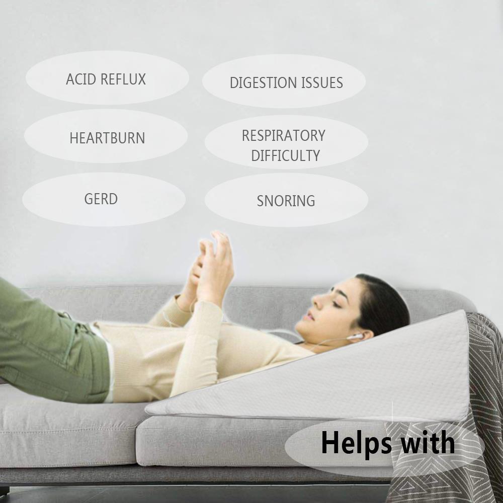 Memory Foam Wedge Pillow System Comfort Sleep Adjustable Bed Back Lumbar Support