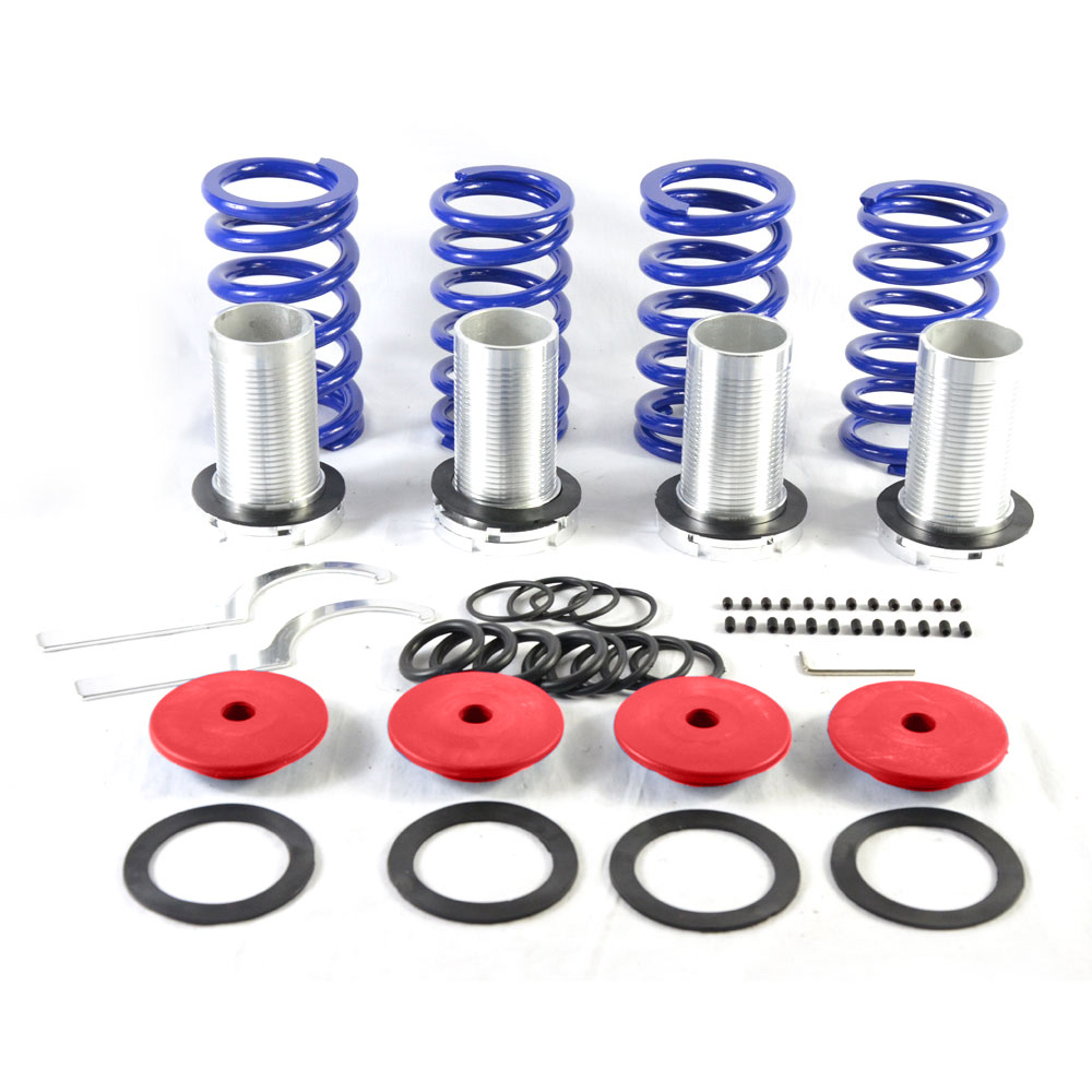 98-02 Honda Accord Jdm Scaled Adjustable Coilover Lowering Spring Sleeves Red