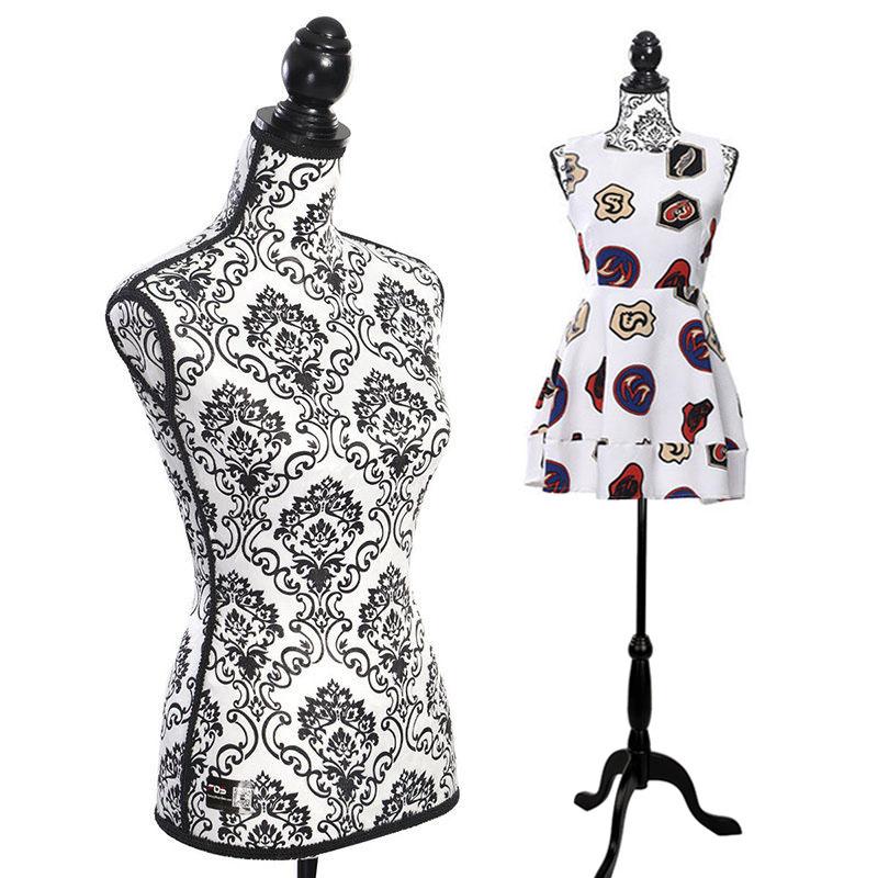 Female Mannequin Dress Torso Clothing Display with Tripod Stand Adjustable AF869