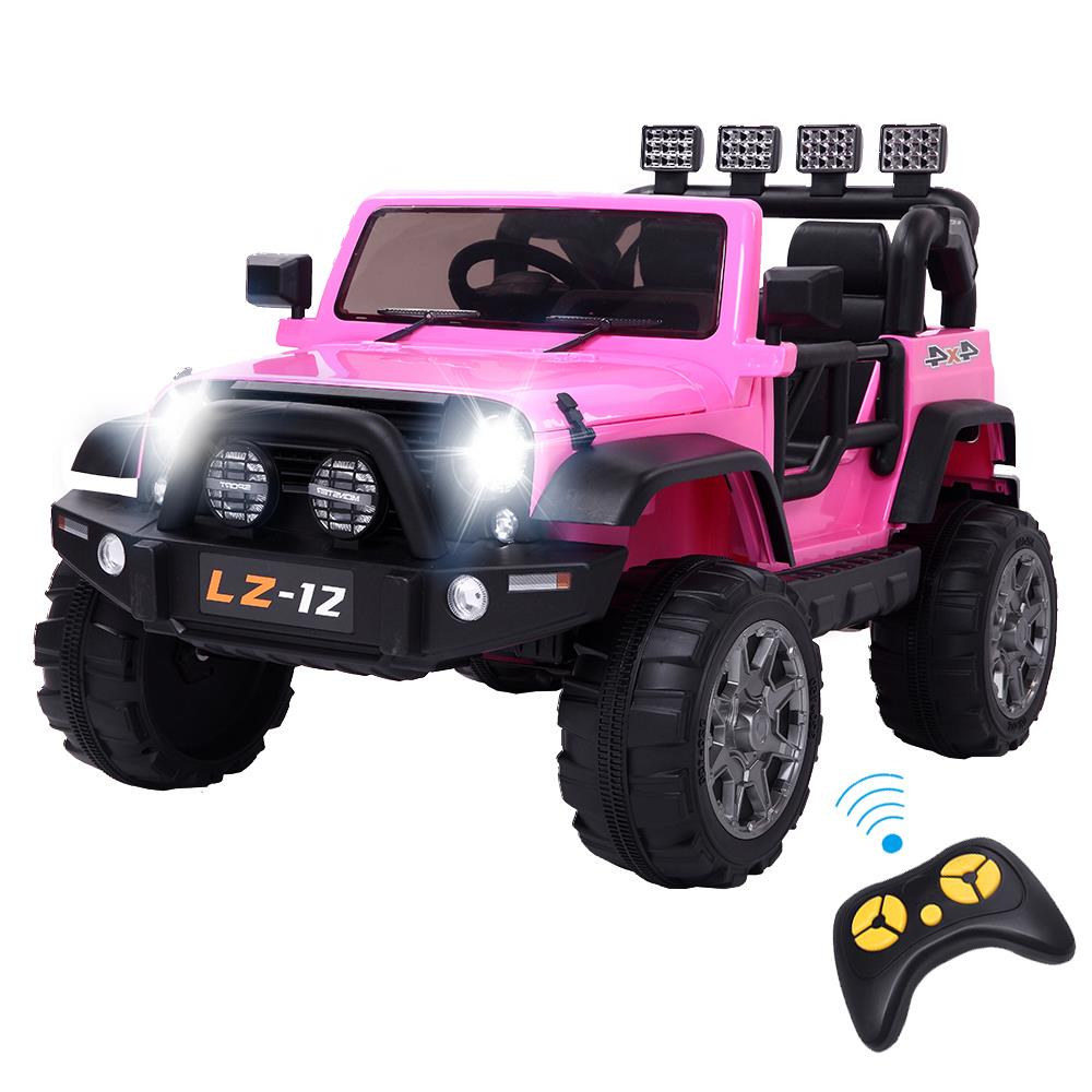 Kids Ride on Toys 12v Electric Cars Battery Wheels Jeep Pink Gift W// Safty belt