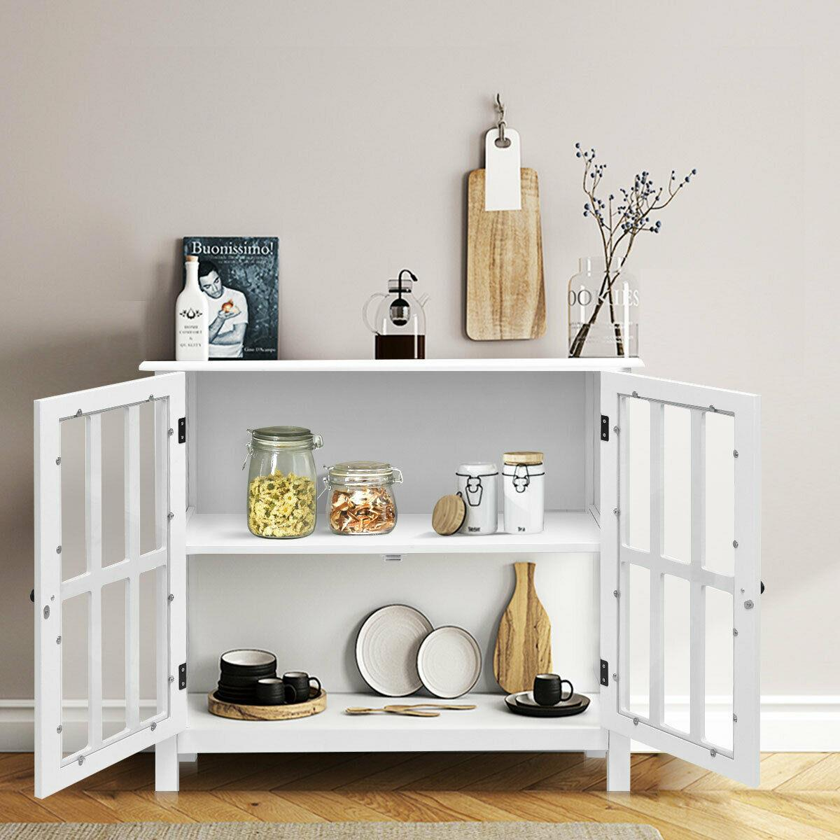 Picture of: Fch Storage Sideboard Buffet Wooden Cabinet Console Table Server Home Kitchen Ebay