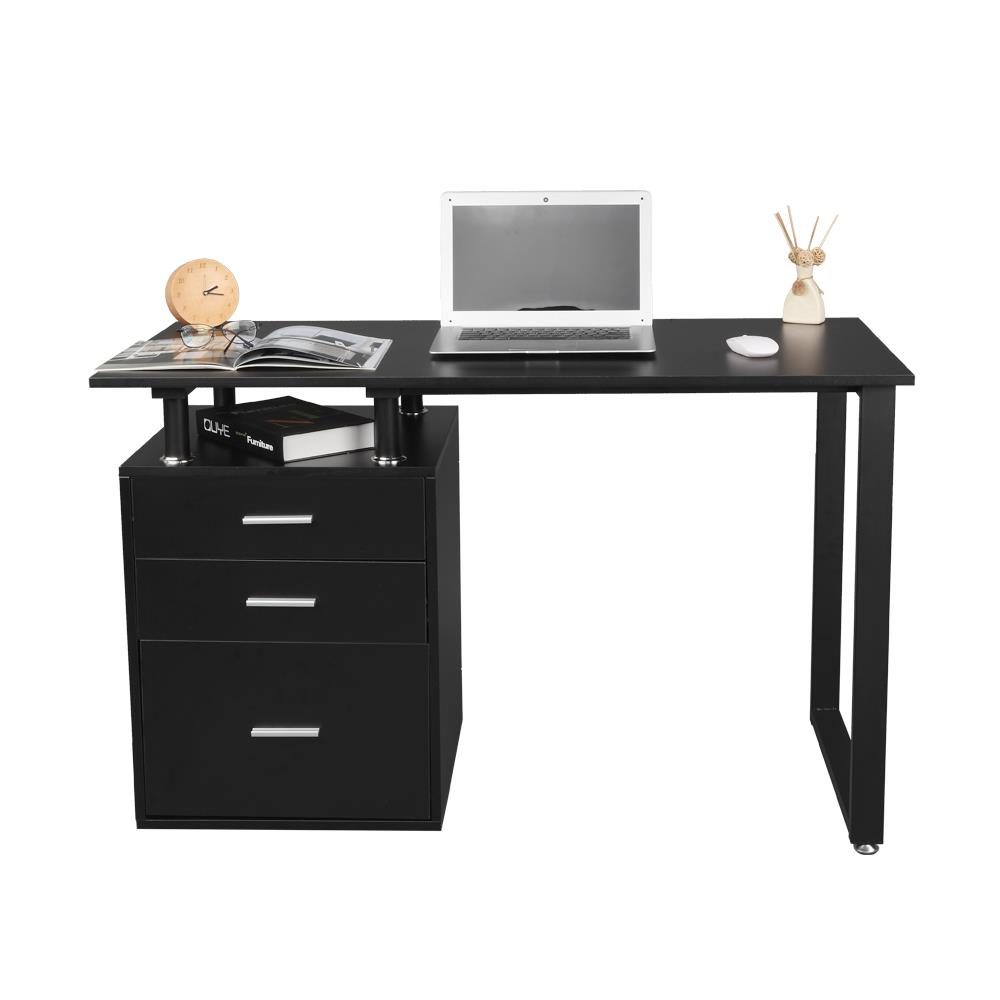 Details about Home Office Table Computer Desk Workstation Study Writing  Table with File Drawer