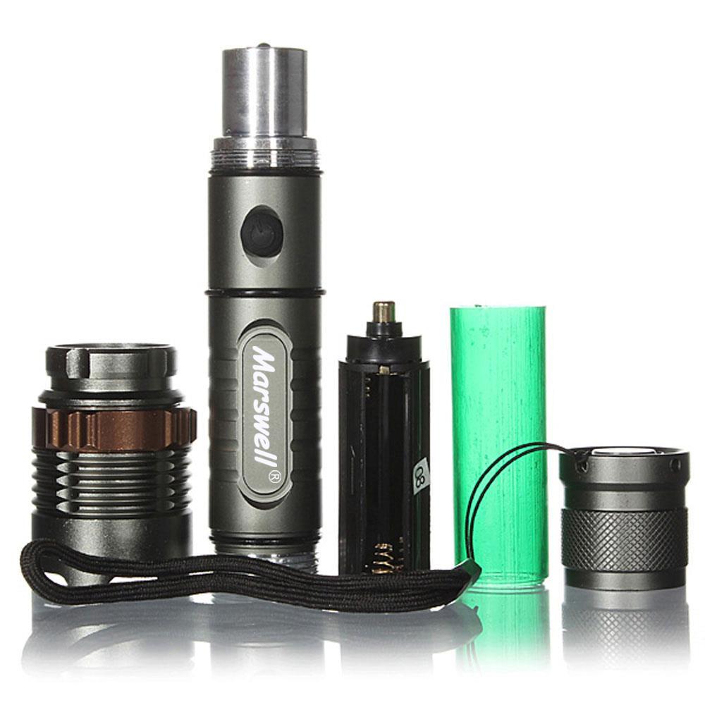 2Set 5000Lumen LED Zoom 18650 Flashlight Torch Lamp w//Battery+Charger