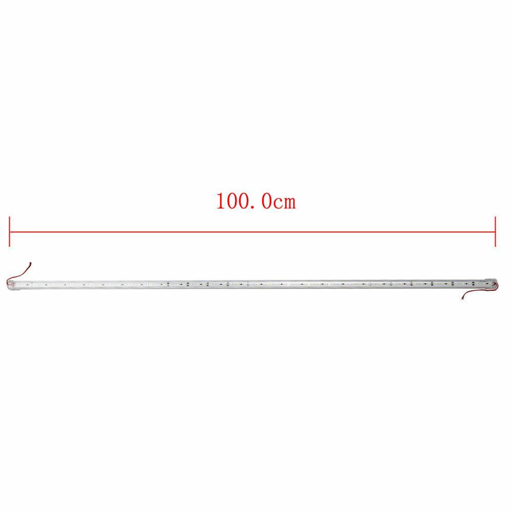 Lot2 18W 72LEDs 6000K White Light LED U-Shape Strip Tube Lamp Bar DC 12V
