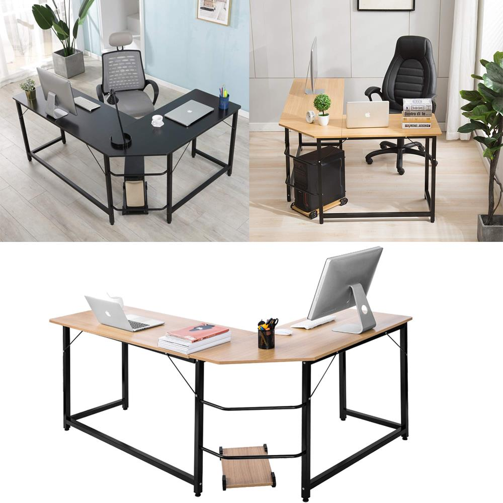 Details About L Shaped Corner Computer Desk Home Office Study Laptop Pc Work Table