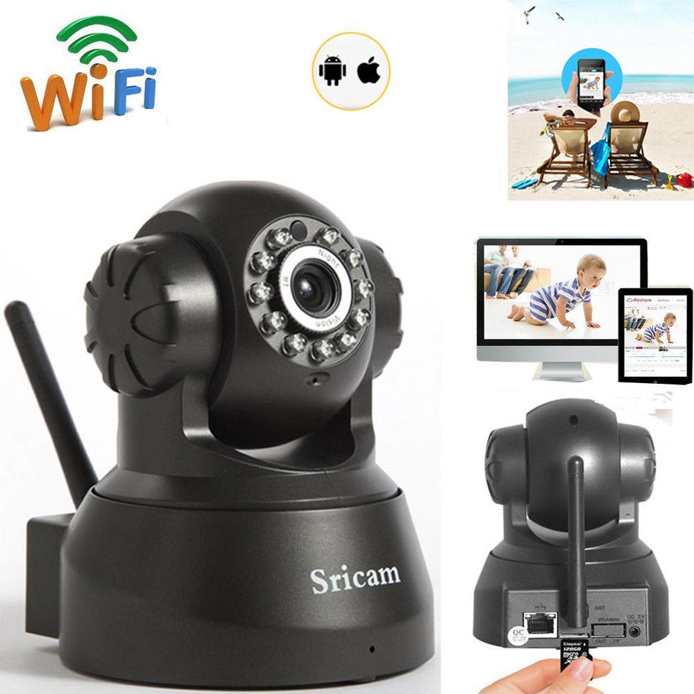 Sricam 1MP HD Indoor//Outdoor Wifi IP Camera Wireless Security CCTV Webcam IR-CUT