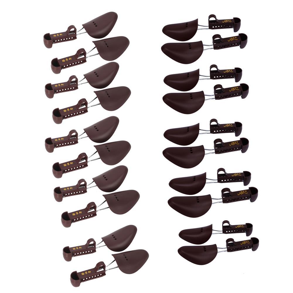 10 Pair Adjustable 2-Way Spring Shoe Boot Tree Shaper Keeper Stretcher Women Men