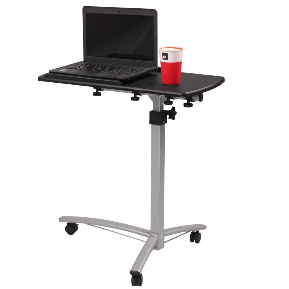 Adjustable Height Stand Up Laptop Table Lift Computer Desk Rolling Workstation