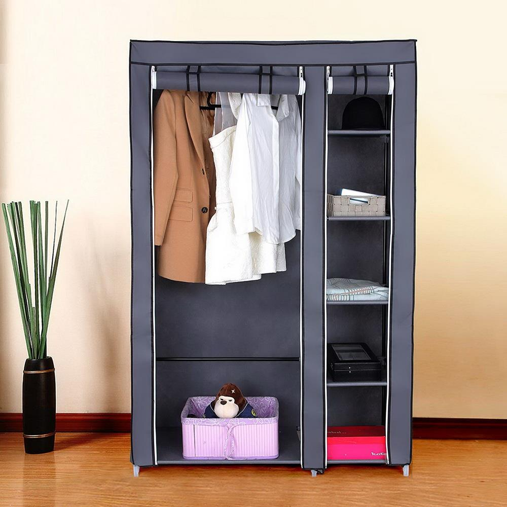 Heavy Duty Portable Closet Storage Organizer Clothes Dustproof