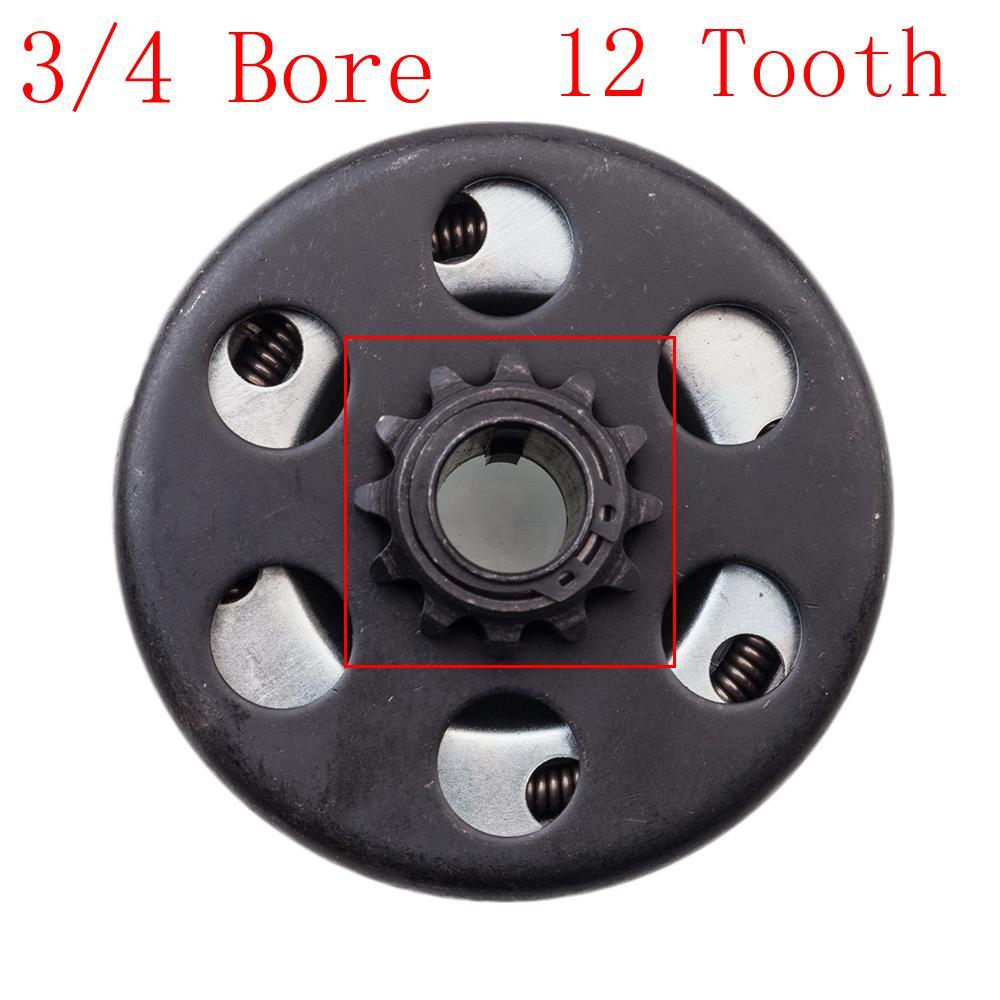 Go Kart Clutch Kit 3//4 Bore 12 Tooth #35 Chain Screw Set Predator Engine Clutch for Minibike Go Kart Clutch Lawnmower Centrifugal Clutch