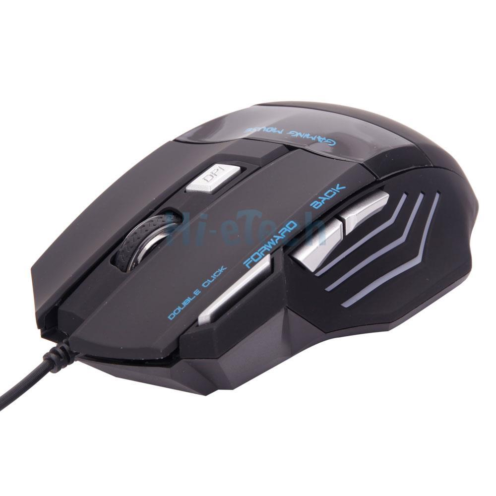 LED Optical 5500DPI 7Button USB Wired Gaming Mouse Mice For Pro Gamer PC US Ship