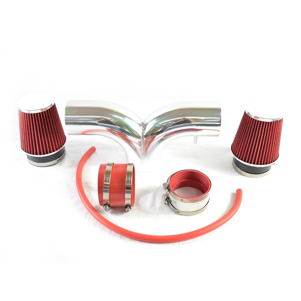Filter BCP RED 2004 2005 2006 2007 Liberty 3.7L V6 Dual Twin Air Intake