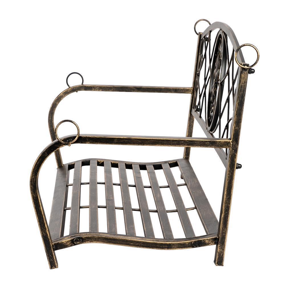Metal Porch Swing Chair Hanging Bench Chair Fleur-De-Lis ...