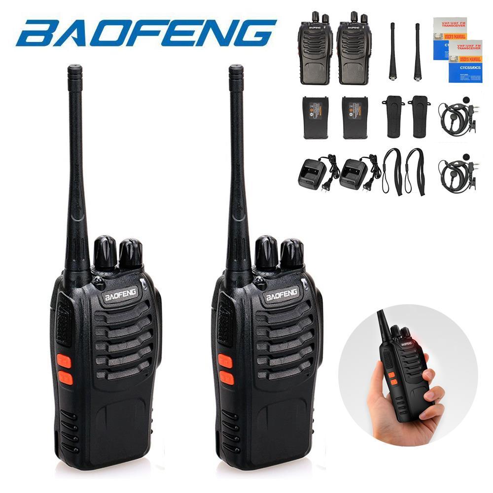 2 x Baofeng BF-888S UHF 400-470 MHz DCS Two-way Ham Radio Walkie Talkie