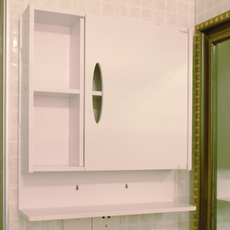 Home Bathroom Wall Mount Cabinet Storage Shelf Over Toilet Small Waterproof