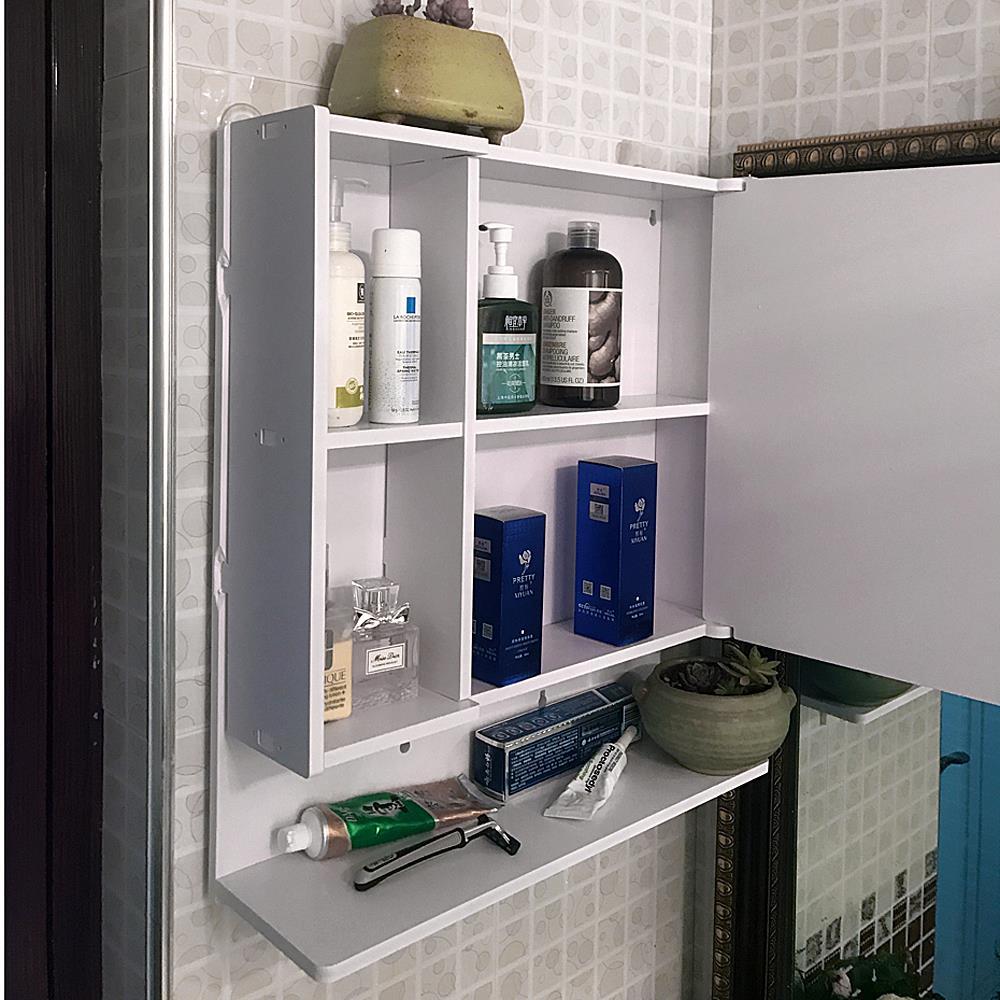 Home Bathroom Wall Mount Cabinet Storage Toilet Shelf Small Waterproof