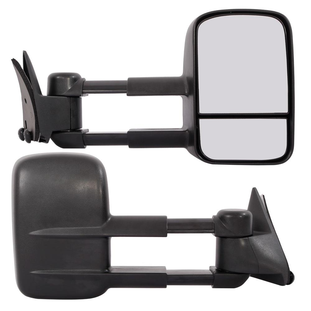 For 88-98 Chevy GMC C//K Tahoe Yukon Black Manual Towing Mirrors Side Tow Pair
