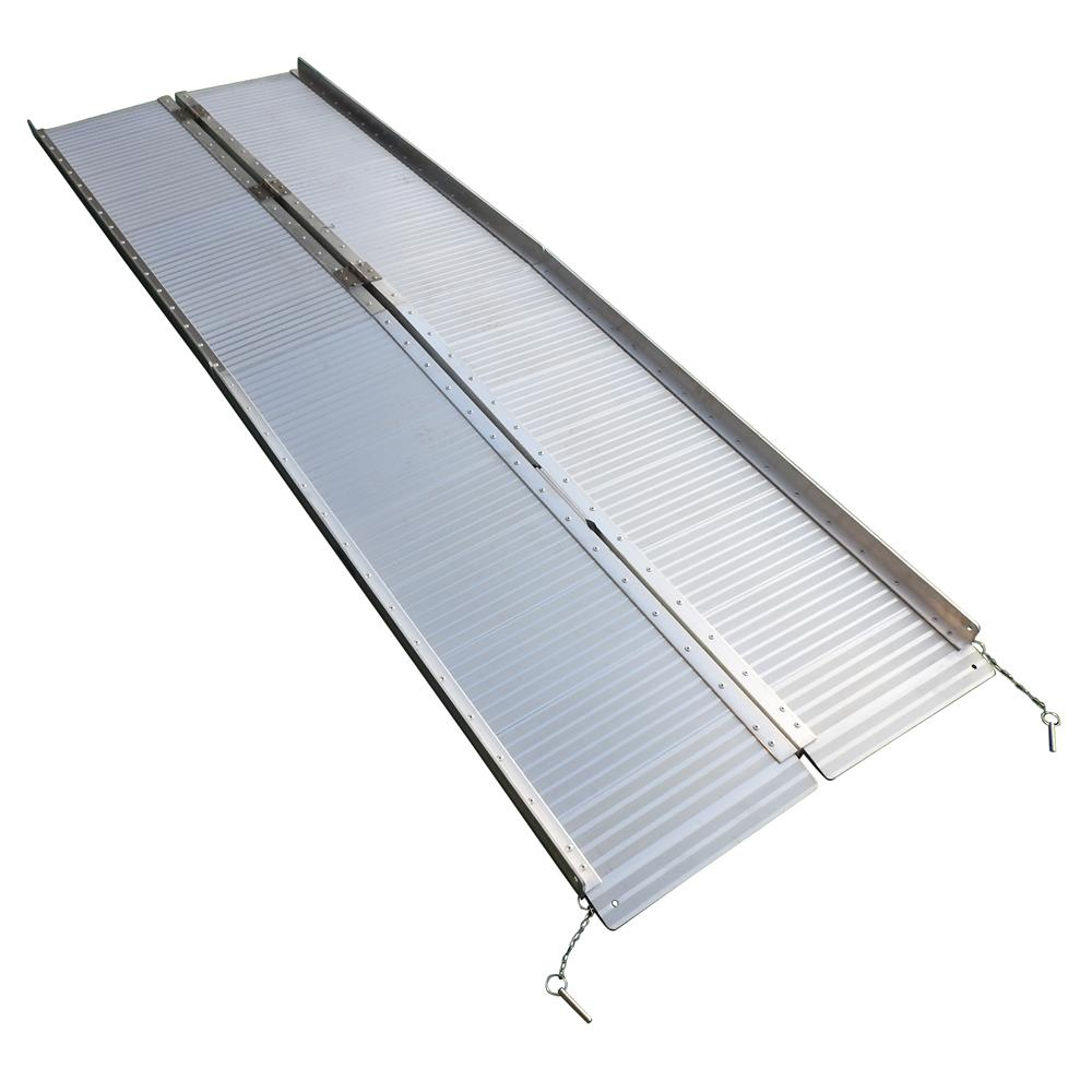 Details about 8' Aluminum Wheelchair Ramp Fold Handicap Design Scooter on walkers for stairs, wheelchairs for stairs, power chairs for stairs, portable ramps for stairs,