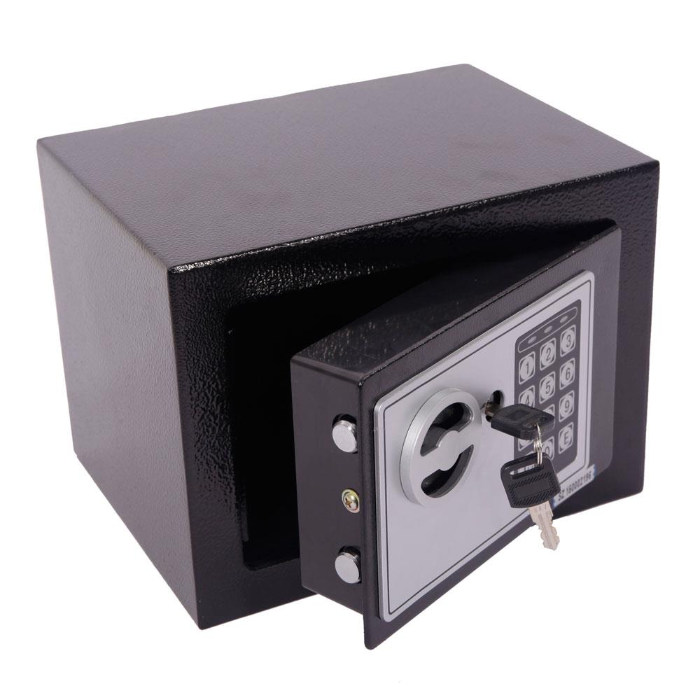 Dongtu Mini Wall-in Style Electronic Code Metal Steel Box Safe Case 17EF Black Ship from USA Warehouse Delivered About 10days