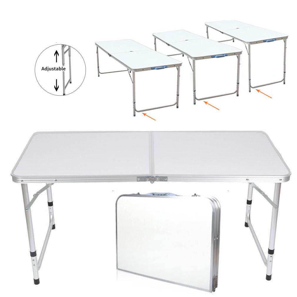 - 3'/ 4' / 6' Ft Aluminum Camping Folding Table Portable Office
