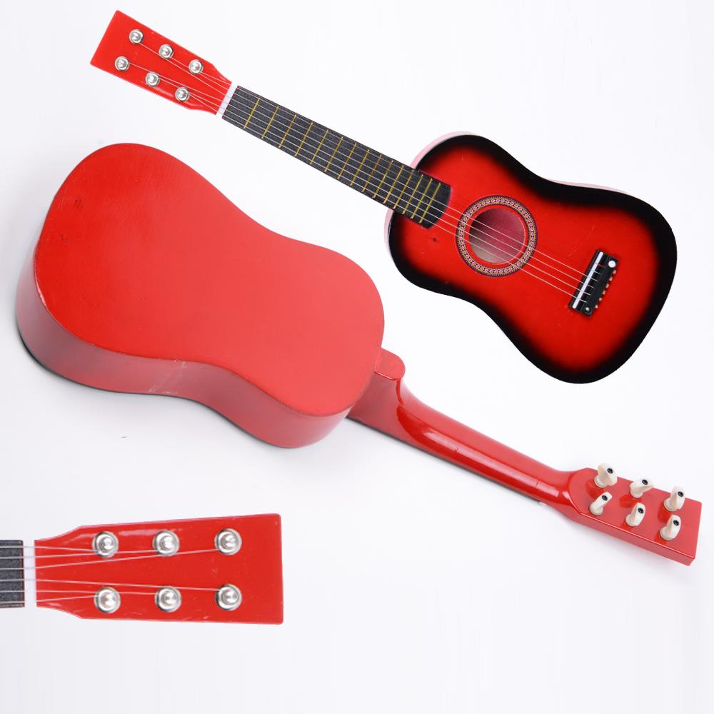 Red Guitar Pick 23 Beginner Acoustic Guitar Wood Pick Strings Guitar Music Instrument for Teens//Kids with String