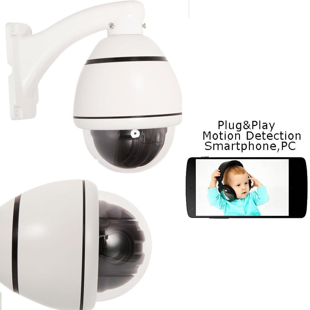 1200TVL HD 30x Zoom Lens PTZ IR-CUT Dome CCTV Security Camera for DVR RS-485