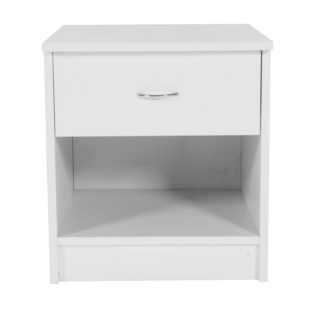 White//Black 1//2 Pcs Bedside Cabinet Table Night Stand Storage Table Wood Bedroom