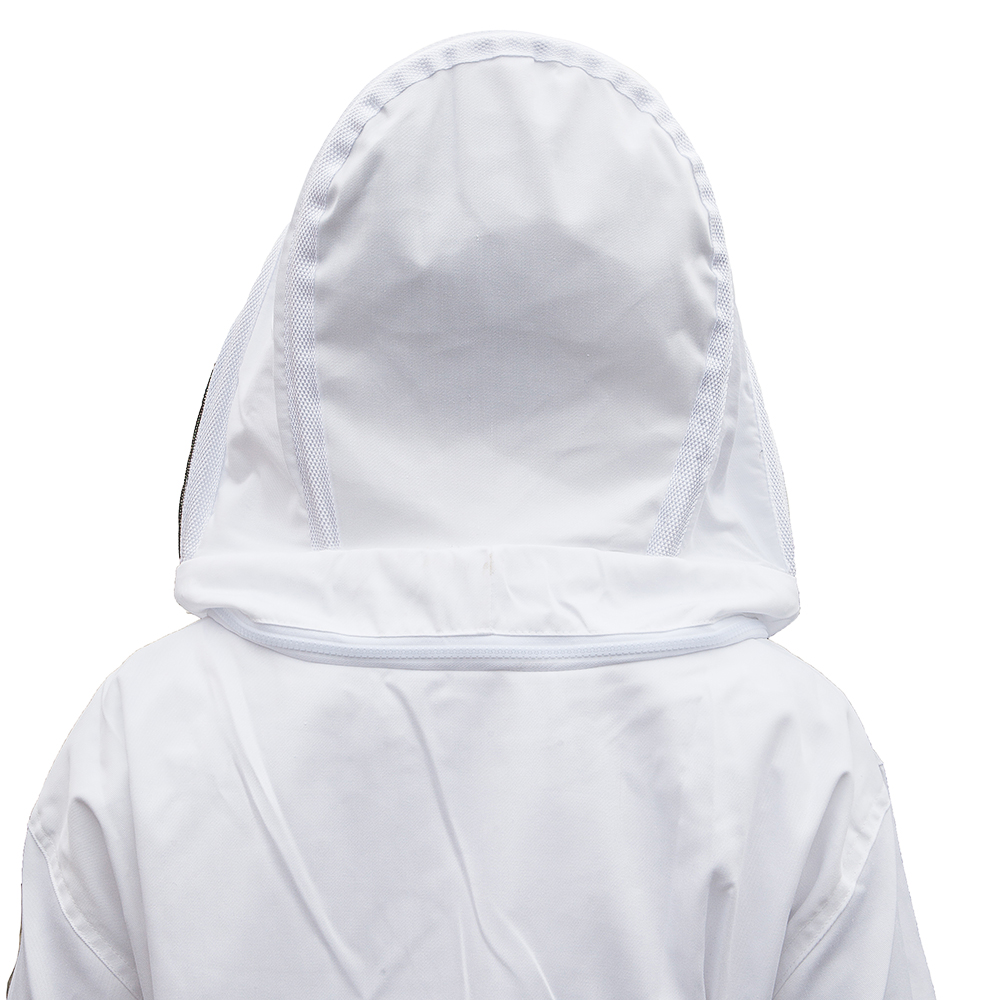 Beekeeping Jacket Protective Veil Smock Bee Coat Suit Breathable XL Color White