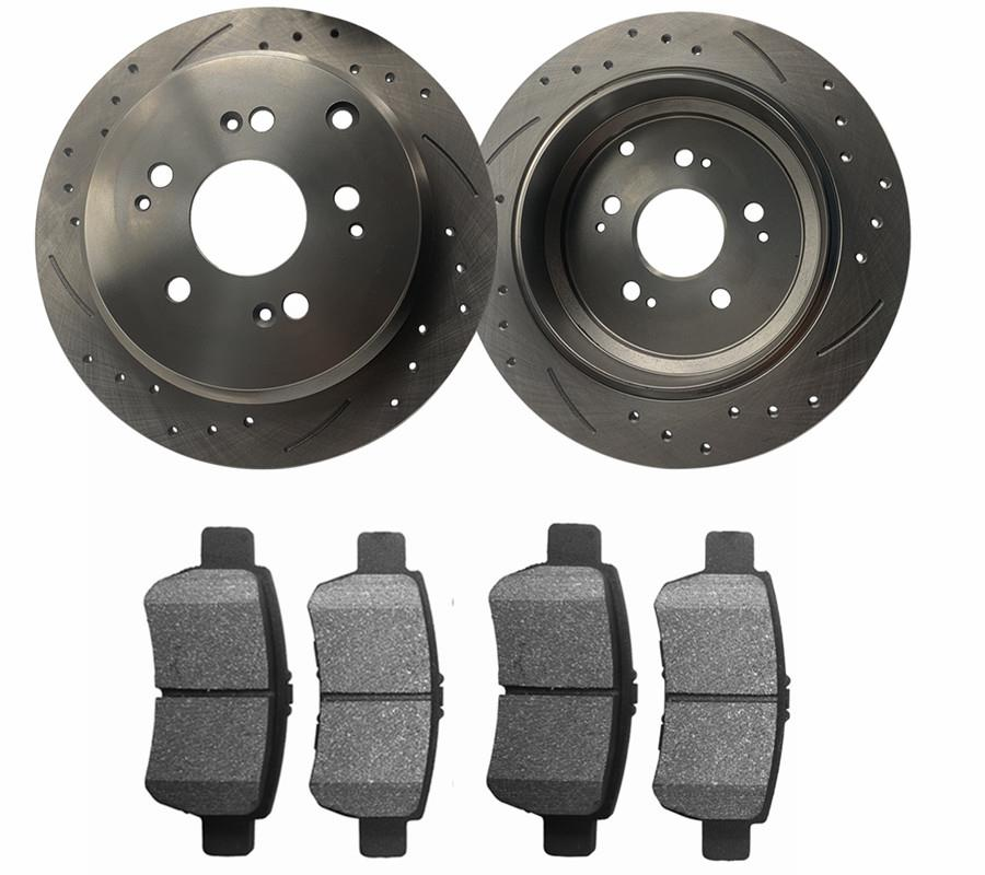 Fits 2005 2006 2007 2008 2009 2010 Honda Odyssey Front Brake Rotors Ceramic Pads
